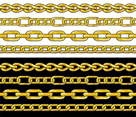 in ketten: Goldene Kette. Nahtlose Grenzen  Illustration