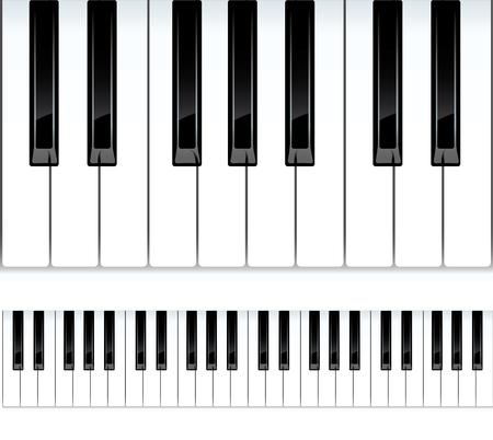 klavier: Tasten eines Klaviers Illustration