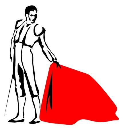 torero: Toreador. Skizze zeichnen im Vektor-Format.