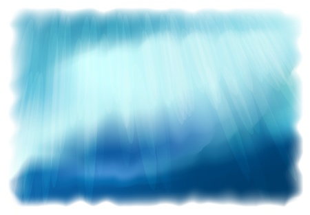 waters: Underwater World. Simulating watercolor drawing. Illustration
