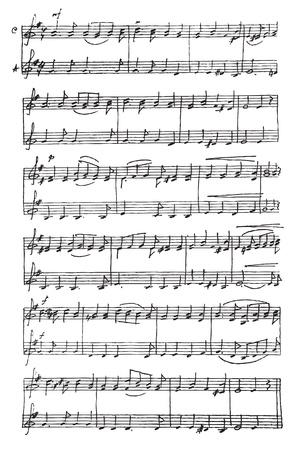 notes musicales: Handmade notes de musique. Illustration