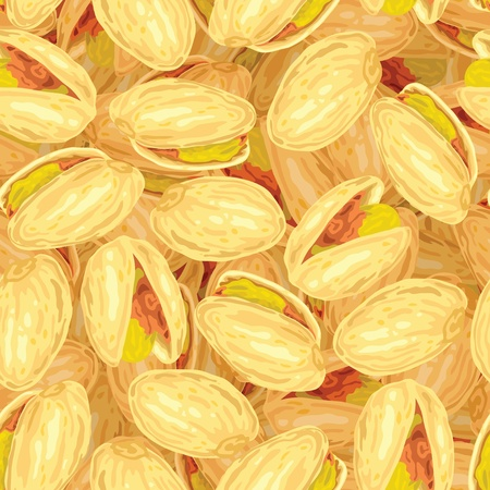 Pistachios. Seamless background. Vector illustration. Vector