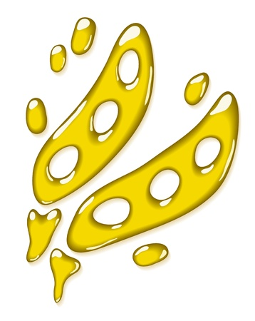 Soybean oil. Stylized silhouette of soy. Vector illustration. Иллюстрация