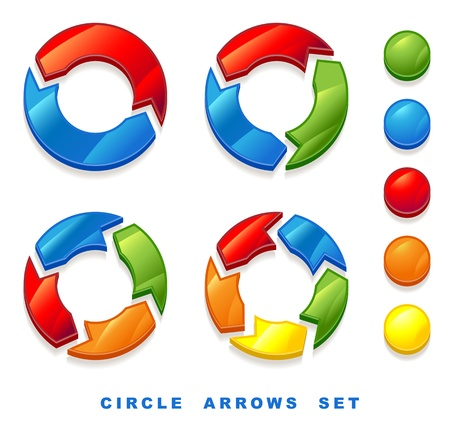 arrows circle: Circle arrows set.