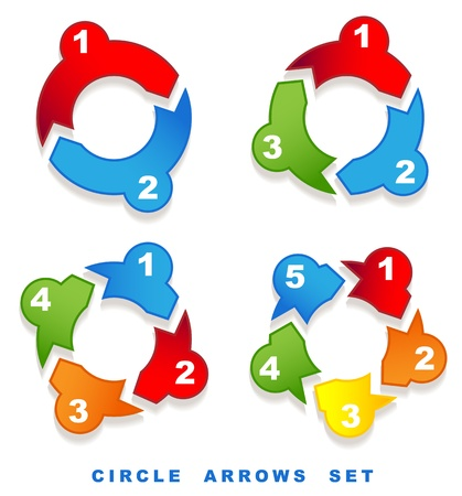 Circle arrows set.   Vector