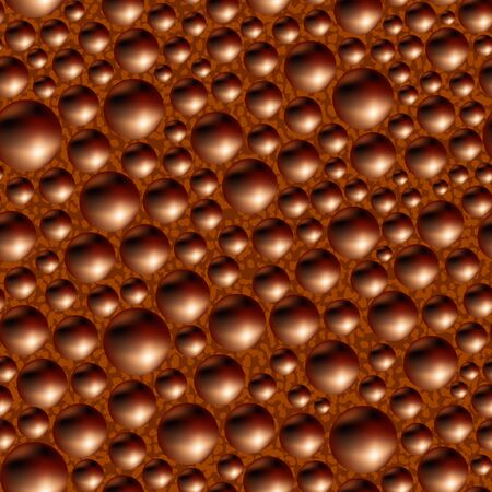Aerated porous black chocolate. Seamless background.  Vector