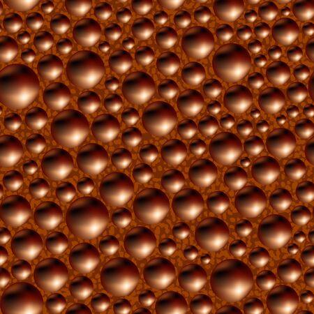 porous: Aerated porous black chocolate. Seamless background.  Illustration