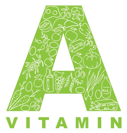antioxidant: Vitamin A. The form A filled with meal.
