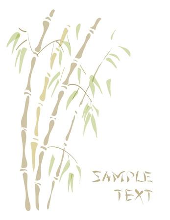 Bambú. Acuarela estilo. Ilustración del vector.