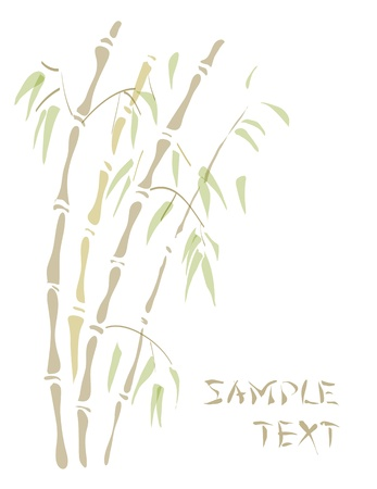 lucky plant: Bamboo. Watercolor style. Vector illustration.
