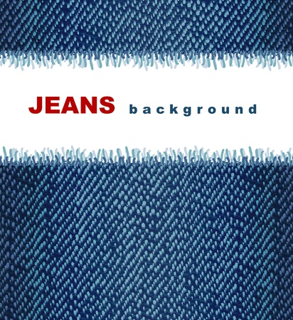 Jeans background. Vector illustration. Vector