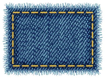 Jeans tag. Vector illustratie.