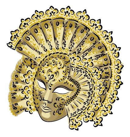 mascaras de carnaval: Venecia máscara de carnaval. Ilustración del vector.