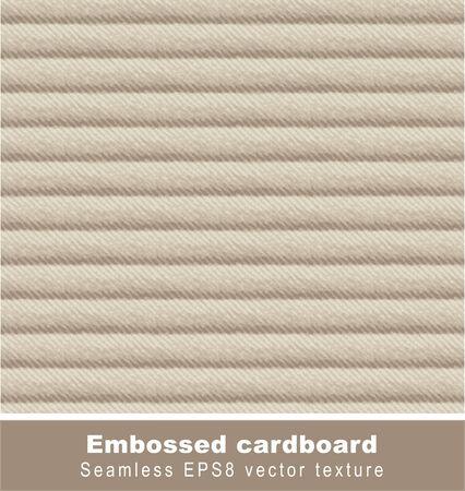 Embossed cardboard. Seamless background.