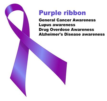 передозировка: Фиолетовый лента. Общие осведомленности рака. Осознание Волчанка. Передозировка наркотиков осведомленность. Болезнь осознание Альцгеймера.