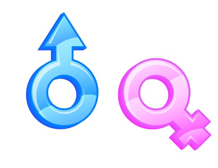 Gender symbols. Vector illustration. Vetores