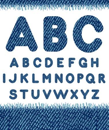 Jeans alphabet. Vectores