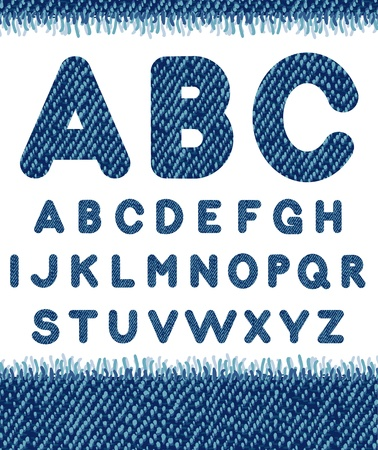 alphabetic character: Jeans alphabet. Illustration