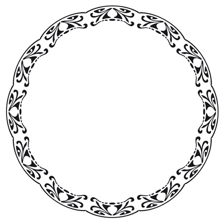 round frame: Rounded frame in the style of Art Nouveau