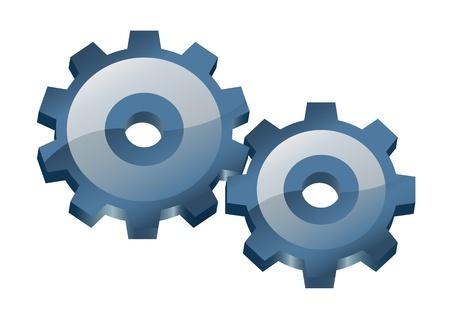 Two gears  Ilustracja