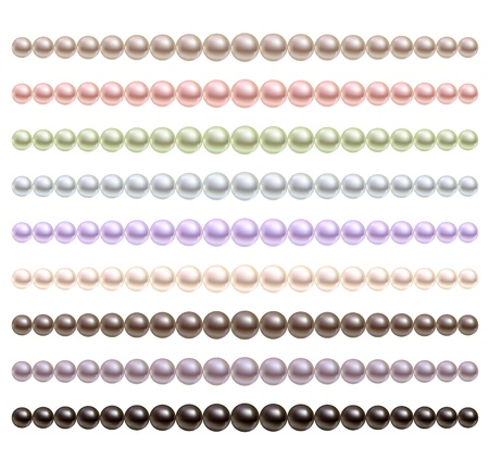 perls: Pearls necklace of different colors