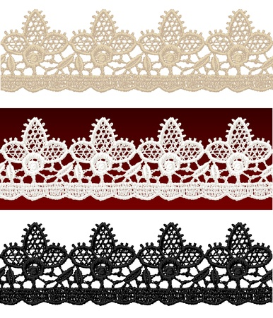 Openwork lace seamless border. Realistic vector illustration. Stock Vector - 16464120