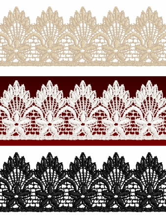 Openwork lace seamless border. Realistic vector illustration. Stock Vector - 16464084