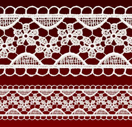 classic woman: Cord�n blanco calado sin fisuras frontera ilustraci�n vectorial realista Vectores