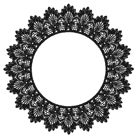 'retro styled': Round openwork lace border  Realistic vector illustration  Illustration