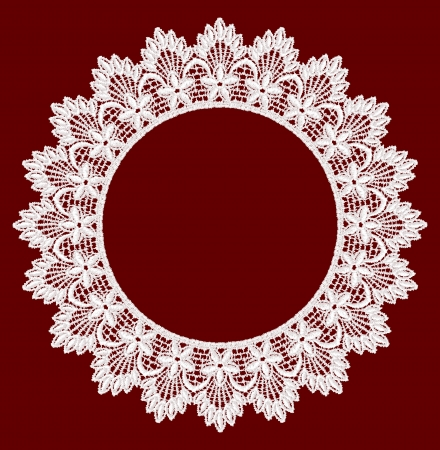 lace frame: Round openwork lace border  Realistic vector illustration  Illustration