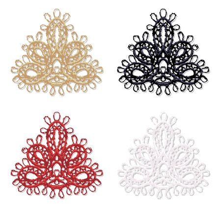 guipure: Openwork lace corner  Realistic vector illustration  Illustration