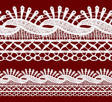 classic style: Seamless penwork lace border. Realistic vector illustration.