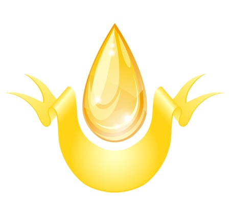 aceite de oliva virgen extra: Gota de aceite estilizada