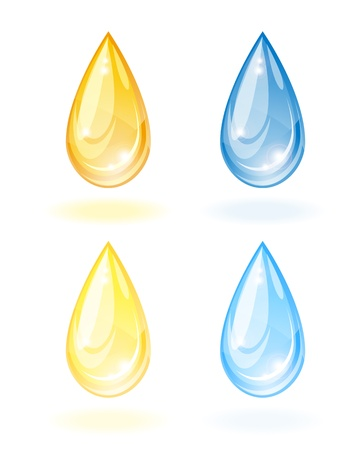 corn flower: Stylized drop of oil and water