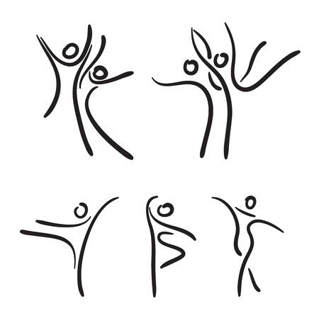Ballet dancers illustration.