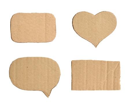 Forms of cardboard Foto de archivo