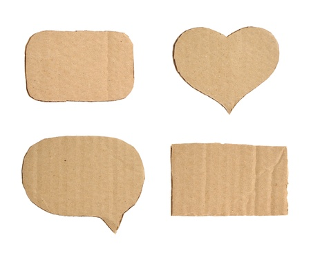 Forms of cardboard Standard-Bild