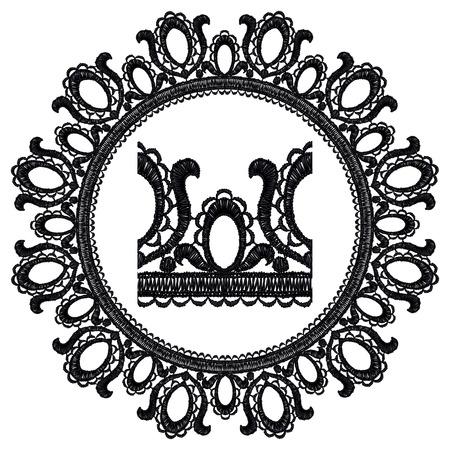 Round openwork lace border Realistic illustration. Stock Vector - 22420785
