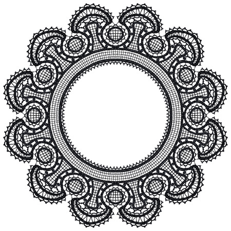 Round openwork lace border Stock Vector - 22474189