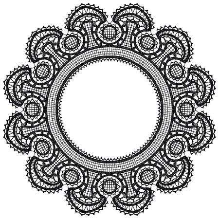 Round openwork lace border Stock Vector - 22474189
