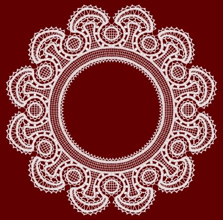 Round openwork lace border Stock Vector - 22474192
