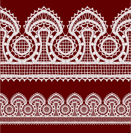 Seamless openwork lace border Realistic  illustration. Stock Vector - 22420796