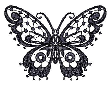 spring out: Ejemplo de la mariposa de encaje.