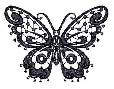 lace filigree: Lacy butterfly illustration.