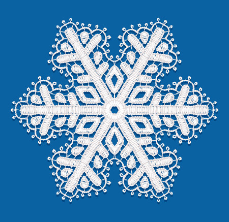 Lacy snowflake illustration. Vector