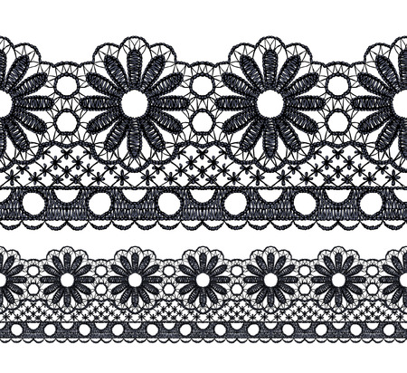 Seamless penwork lace border Realistic illustration. Stock Vector - 22420819