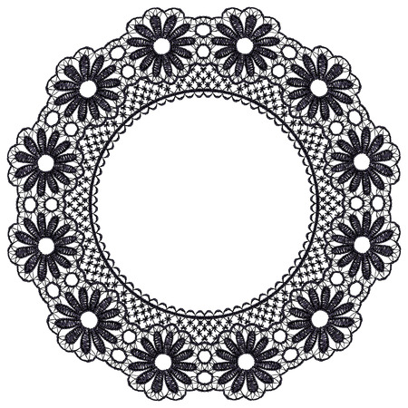 guipure: Round openwork lace border