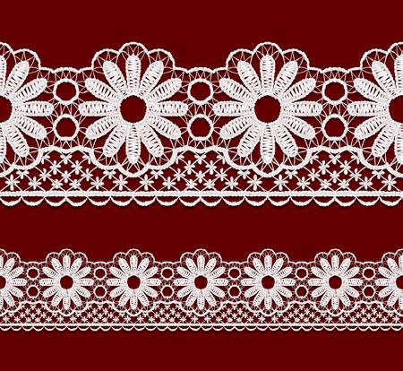 guipure: Seamless openwork lace border