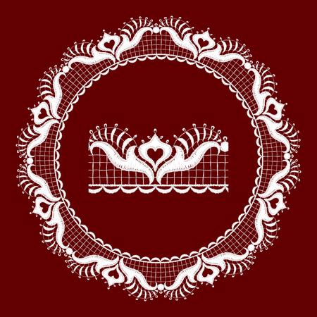Round openwork lace border Realistic illustration. Stock Vector - 22420872