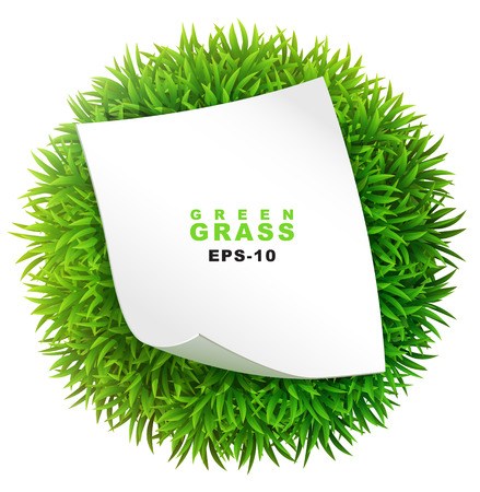 sod: Grassy sphere with a clean sheet of paper